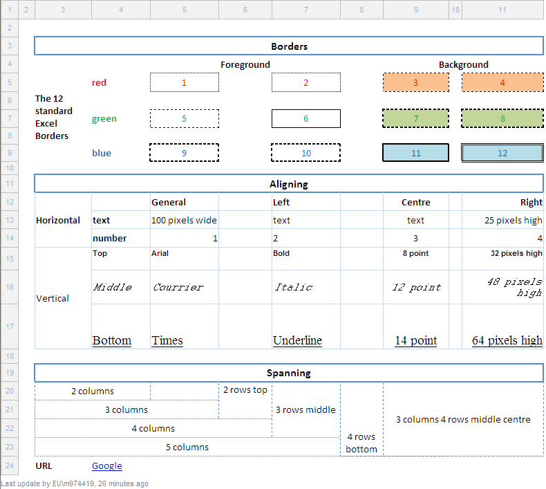 Convert Excel to HTML with formatting » Maurice's Musings