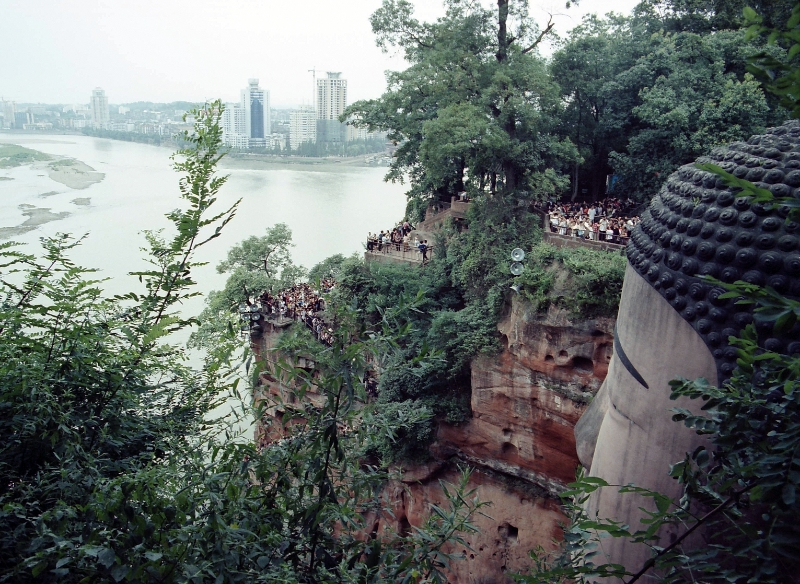 buddha overlooks town, Leshan China.jpg