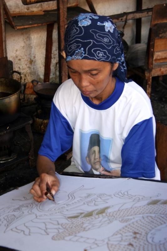 ... Yogyakarta Indonesia 1.jpg - Indonesia Java Yogyakarta. Batik factory