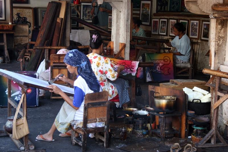 ... Yogyakarta Indonesia 2.jpg - Indonesia Java Yogyakarta. Batik factory