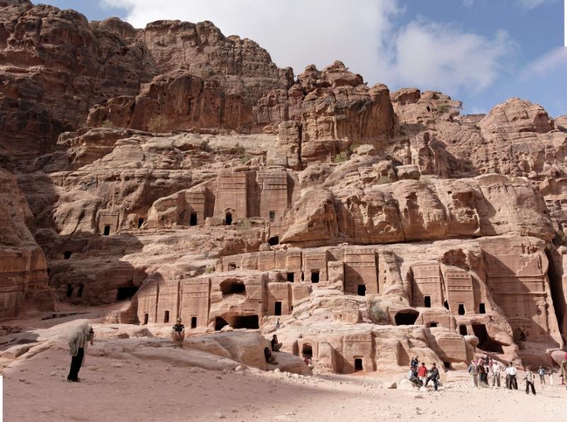 Maurice's Photos/travel/Jordan/Grave houses, Petra (Wadi Musa) Jordan