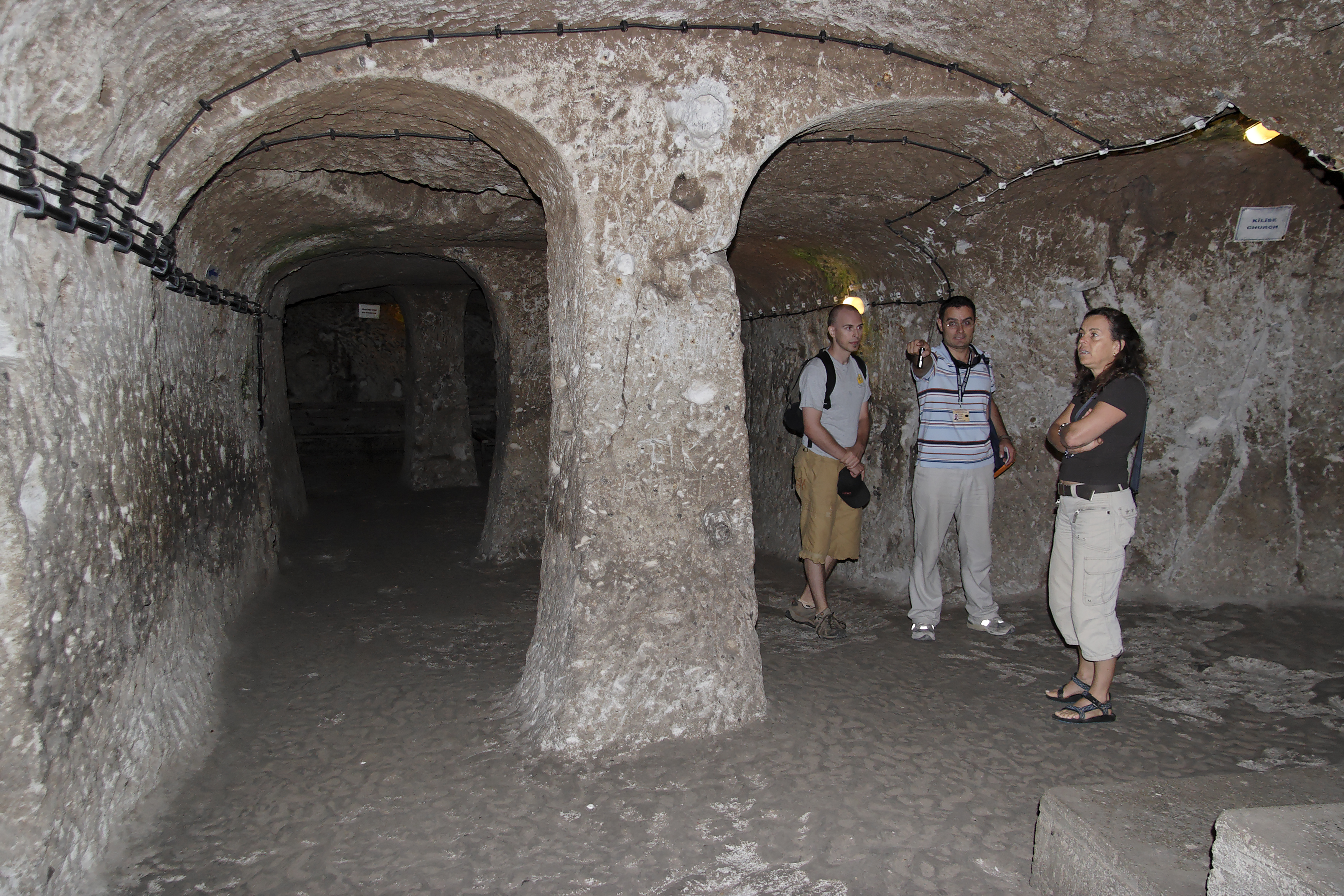Derinkuyu underground city, Cappadocia, Turkey, Derinkuyu Turkey.jpg - Derinkuyu underground city, Cappadocia, Turkey
