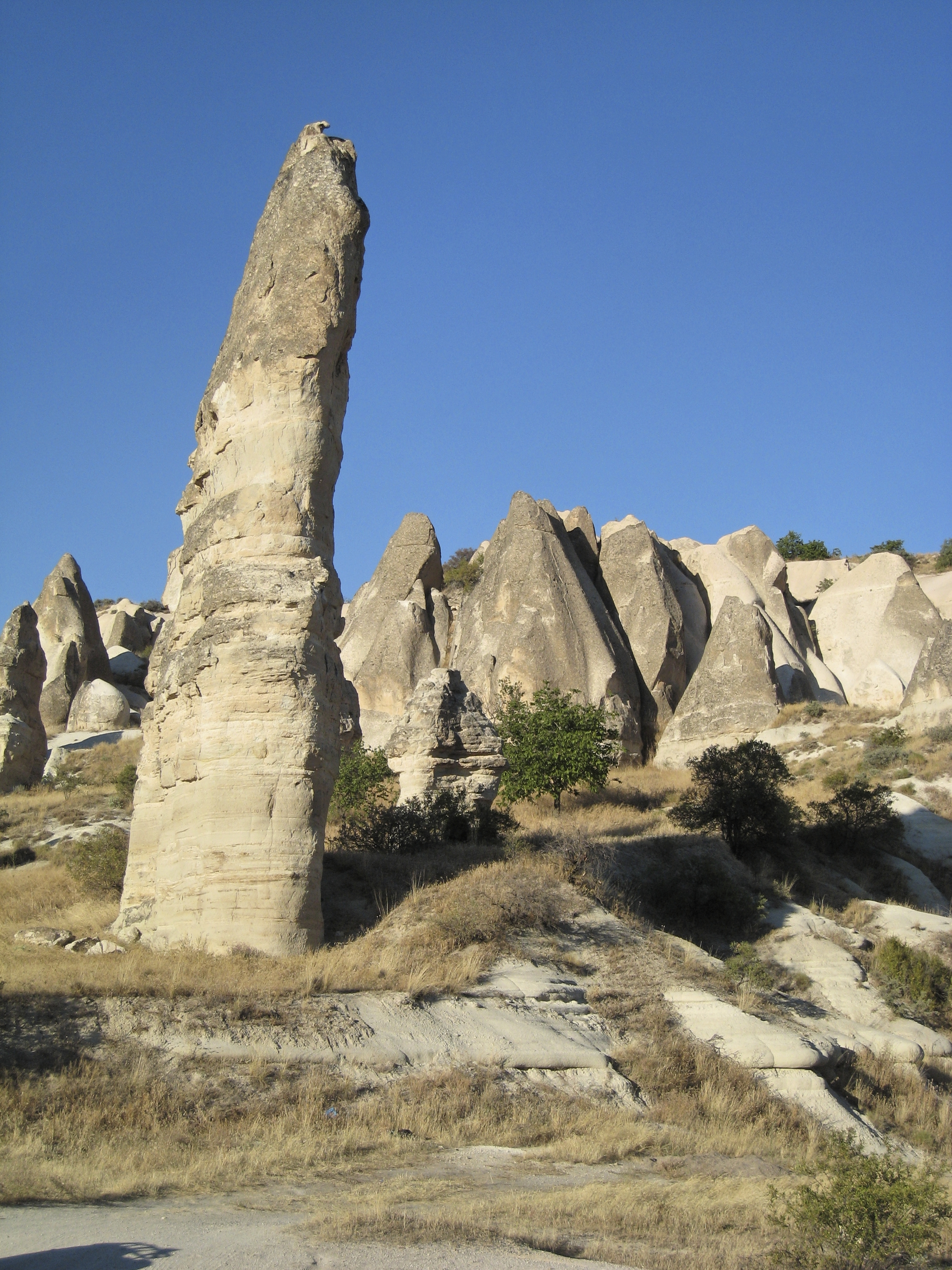 Fairy chimney rock formations, Goreme, Cappadocia Turkey 8.jpg - Goreme, Cappadocia, Turkey